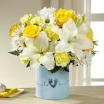 Reference #  BB1-d Starting at $45.99 Blooming with warmth and sunlight, this gorgeous flower bouquet brings together yellow roses, yellow carnations, yellow mini carnations, white Asiatic Lilies, and white traditional daisies to create a memorable gift.