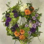 Reference # JBS 202 Standing Wreath on easel   as shown $ 175.00